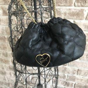 Betsy Johnson Black Crossbody Bag Chain Strap NWOT